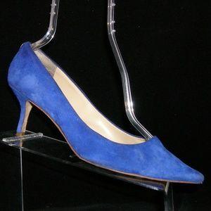 Ivanka Trump 'Indico' blue suede pointed heels 9M